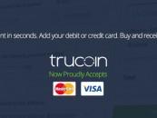 Trucoin: bitcoin bankkártyával Amerikában